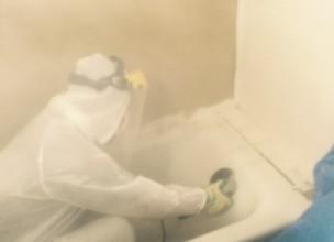 撤去・処分・解体工事】神奈川県大和市 陶器製バスタブ(浴槽)の解体・撤去工事