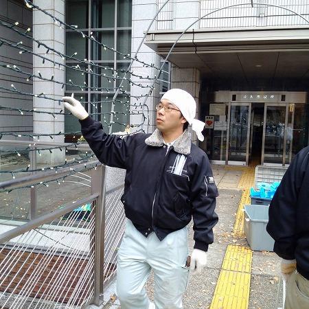 綾瀬市役所イルミネーション6