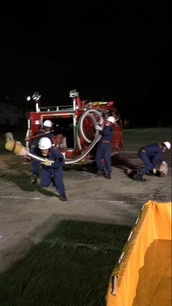 綾瀬市消防団 操法大会の訓練1