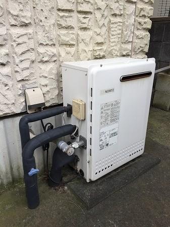 ノーリツ据置型給湯器GT-2428SARXのお取替え工事【横浜市泉区】その1