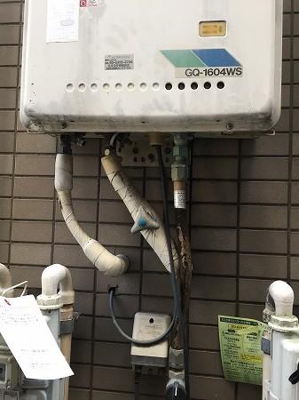 ノーリツ給湯器GQ-1604WS から リンナイRUX-A2010W-Eへの交換工事【世田谷区松原】お取替え費用のご案内 その3