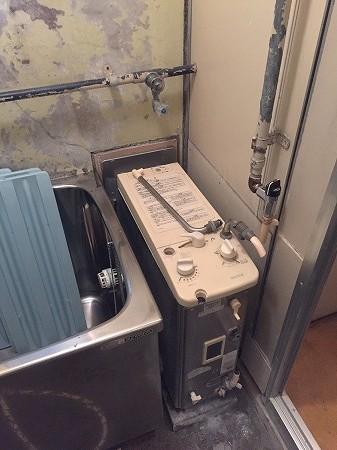風呂釜の交換方法の解説。その2