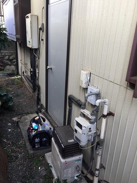 ふろがま&給湯専用給湯器を、エコジョーズ1台にまとめる工事【綾瀬市寺尾南】その3