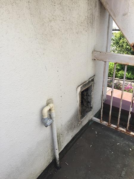 壁貫通型給湯器から壁掛け給湯器へのお取り替え工事【国分寺市】5