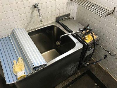 【BF式風呂釜からリモコン式風呂釜へのお取替え工事】横浜市磯子区1