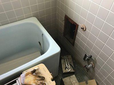 共用給排気筒用風呂釜SR-SD→RBF-ASNDへのお取替え工事【横浜市金沢区】その3