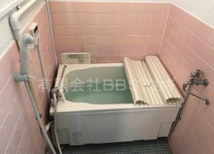 バランス釜から広い浴槽のマニュアルタイプへの交換工事【横浜市港南区】