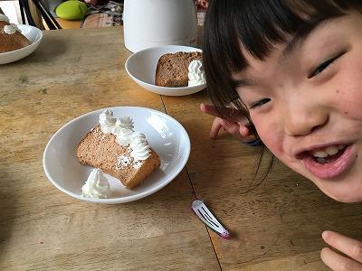 手作りシフォンケーキとぼんちゃん