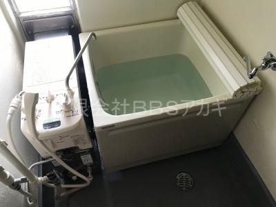 設置工事後の写真|浴槽と風呂釜の新規取り付け工事【県営住宅 in 横須賀市】