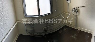 市営住宅のお風呂場のパノラマ写真|市営住宅のお風呂場にシャワーを設置する工事【市営住宅 in 神奈川県寒川町】