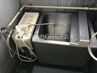 新しい風呂釜に早変わりです|東京ガスKG-813BF-FXS(風呂釜)からのお取り替え工事【市営住宅 in 川崎市幸区】