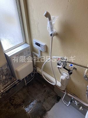 お風呂セットを撤去し、シャワー室に大変身♪|団地用のお風呂をシャワー室に♪【県営住宅 in 横浜市磯子区】