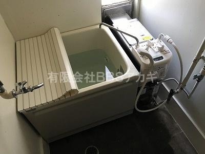 お風呂の設置工事、完了です!