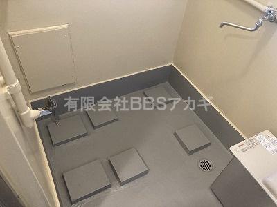 工事前のお風呂場の様子です。|風呂釜&浴槽の新規取り付け工事【区営住宅 in 中野区】